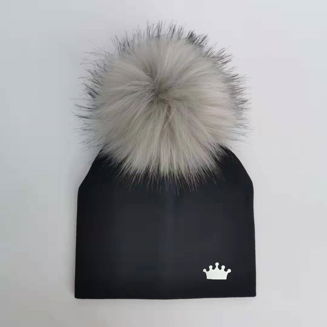 Baby Boy Hat Newborn Cotton Hats Baby Pom Pom Crown Photo Props Children's Kids Hat Boy Accessories Toddler Cap Bonnet