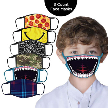 3PC Kids Printed Masks Washable And Reusable Masks Dustproof Facemask Reusable Scarf Flag Bandana drop-shipping#3 1