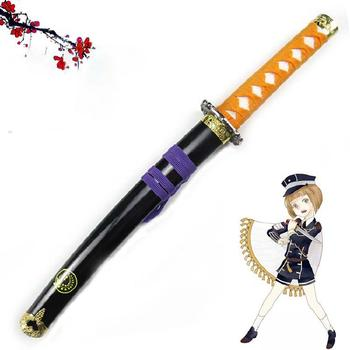 Touken Ranbu Online drewniany miecz broń nóż Maeda Fujishiro Cosplay miecz samuraja Katana Ninja Espada broń Prop zabawka dla nastolatek tanie i dobre opinie DOYOQI CN (pochodzenie) Keep away from fire Wooden sword weapon