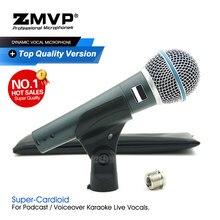 Grau a qualidade beta58a desempenho profissional dinâmico microfone com fio beta handheld 58a mic para karaoke vocais ao vivo estágio