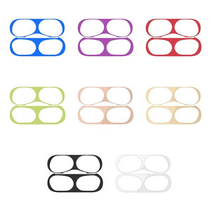 Dust Guard Protective Sticker For Apple AirPods Cover Case Wireless Charging Box Metal Dustproof Sticker For AirPods pro 3(China)