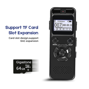 Image 2 - VR520 Secret Digital Audio Voice Recorder 8GB 16GB Professional Portable Recorder MP3 For Business Support Up to 64G TF Card