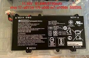 11,55 V 61.6Wh Новый SG03XL Аккумулятор для ноутбука HP envy 17-u011nr 17t-u000 m7-u109dx ноутбука