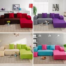 solid color Sofa Cover Set Couch Elastic Corner Covers for Living Room Stretch L Shaped Chaise Longue Slipcover