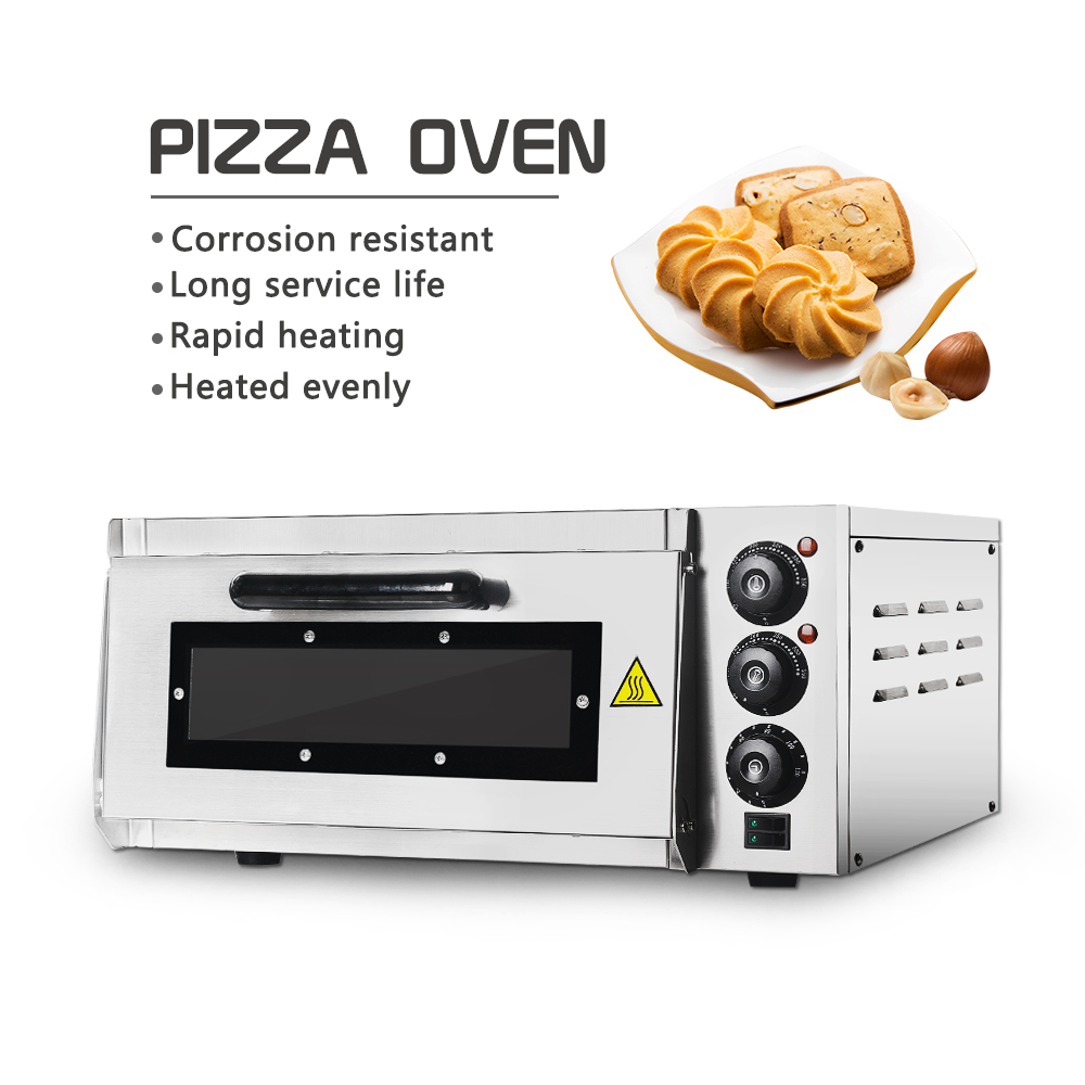 Купить с кэшбэком ITOP Pizza Oven 2KW Commercial Electric Pizza Oven Single Layer Professional Electric Baking Oven Cake/Bread/Pizza With Timer