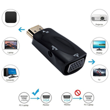 זכר לנקבה HDMI תואם ל vga מתאם HD 1080P אודיו כבל ממיר עבור טלוויזיה למחשב נייד מחשב מחשב תצוגת מקרן