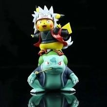 Pokemon Bulbasaur Jiraiya Anime Figures Naruto Shippuden PVC Cute Toys 12cm Model Action Figurals Pocket Monster Xmas Gift Doll