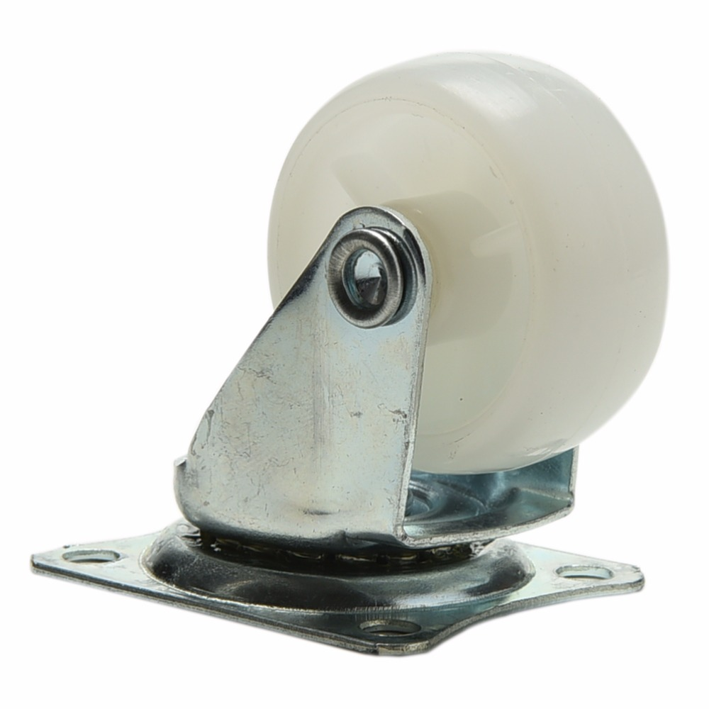 Roda giratória de nylon para móveis, roda giratória de 10kg para móveis de carro inteligente, cadeira, armário, pernas inferior, roda omni 1pc-1