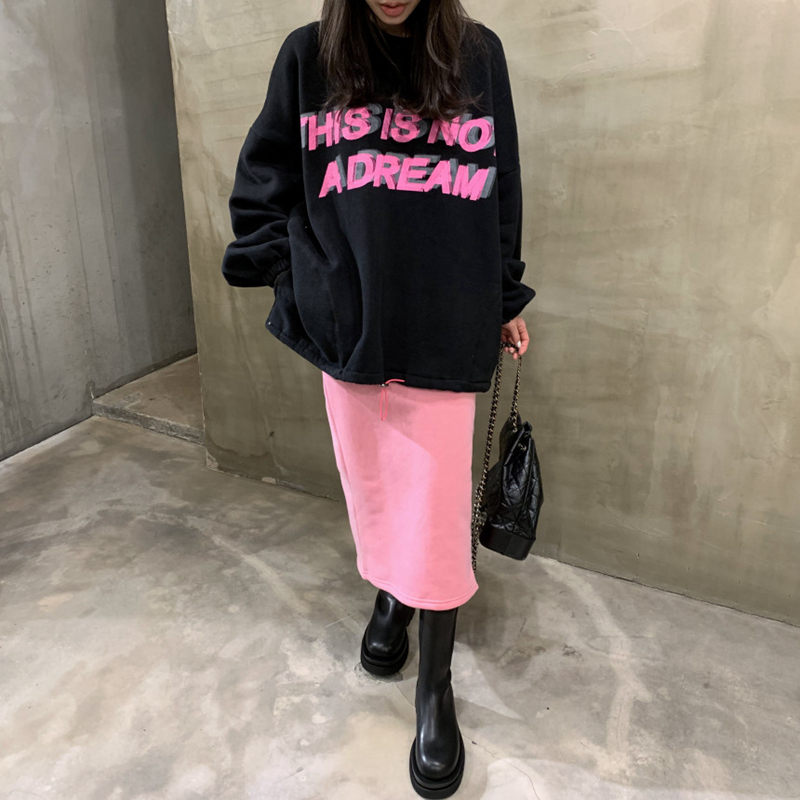 with pink skirt