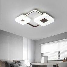 купить Modern LED Ceiling Lights Living room Bedroom luminaire plafonnier Lustre round square LED Ceiling lamp Acrylic Lighting fixture дешево
