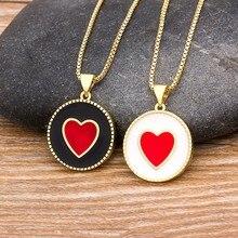 New Arrival Trendy serce wisiorek naszyjnik dla kobiet kobieta elegancki złoty łańcuch naszyjniki damskie romantyczne biżuteria ślubna prezenty