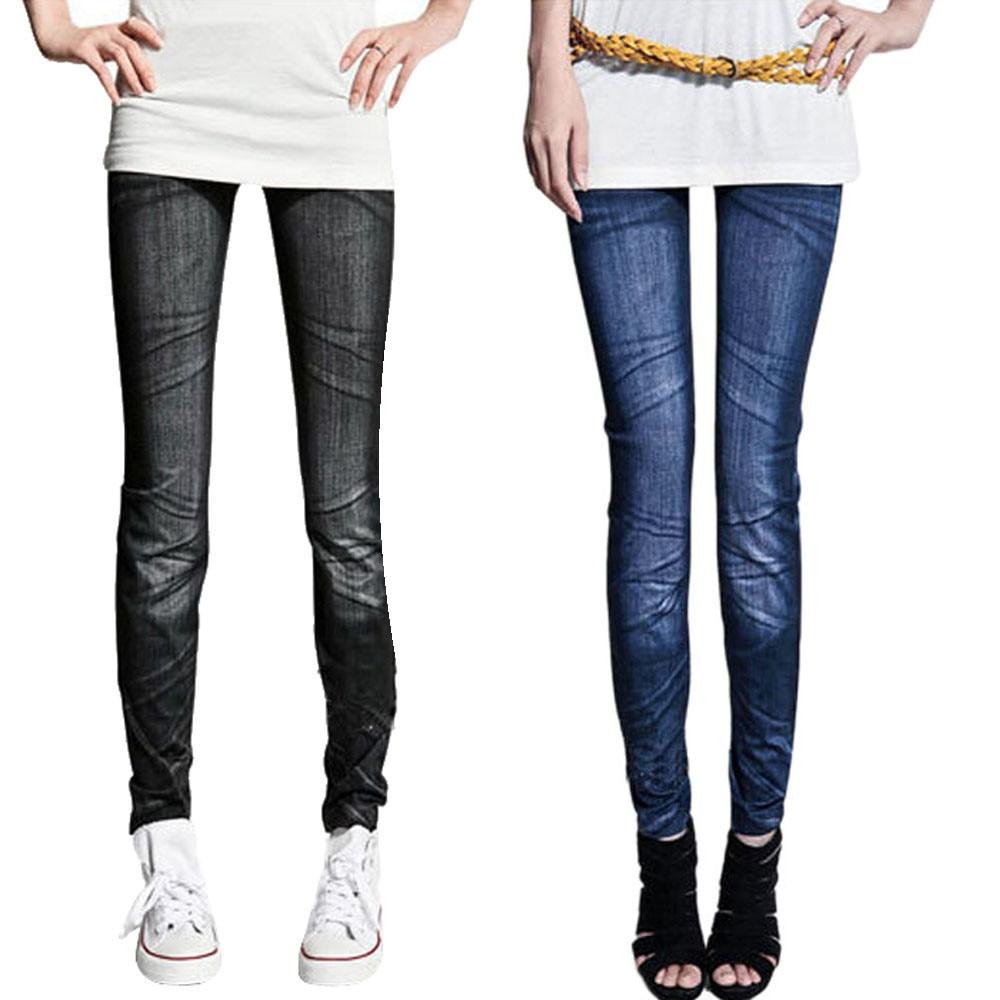 Womail Leggings Straight Casual Women Jeans Sexy Skinny Jeggings Women Pants Slim Leggings Skinny Pure Color Female Pants