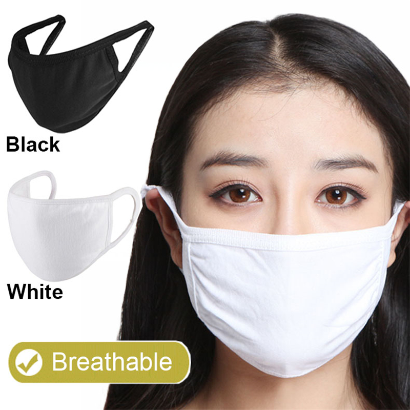 1/2Pcs Protective Mask Dust Face Respirator Mask Cotton Filter Air PM2.5 Smog Washable Face Respirator Mask Earhook Folding Mask