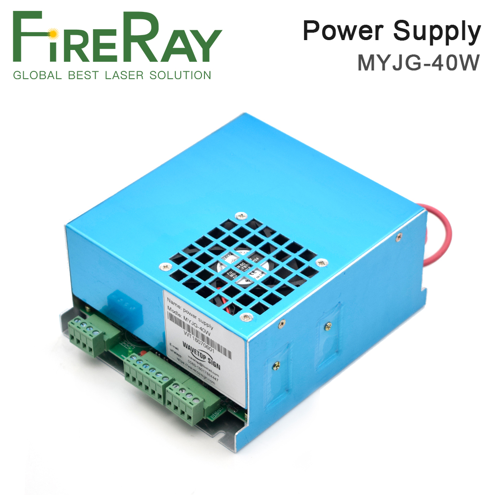 FireRay MYJG-40 CO2 Laser Power Supply 40W 110V/220V For CO2 Laser Tube High Voltage Engraving Cutting Machine
