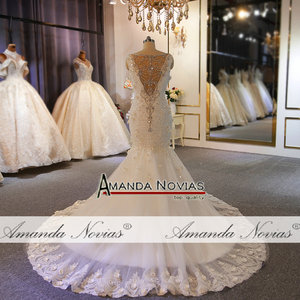 Image 3 - Special design wedding gowns full beading lace wedding dress mermaid