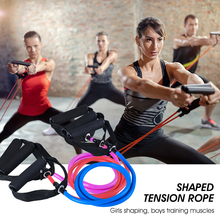 цена Yoga Pull Rope Elastic Resistance Band Fitness Workout Exercise Tubes Practical Training Rubber Tensile Expander 120cm онлайн в 2017 году