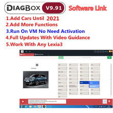 Newly V9.91 For Lexia 3 Diagbox 9.68 PP2000 Software for Lexia 3 FW921815C Diag box 9.68 for Citroen for Peugeot Car OBD2 Reader