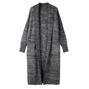 Knit Sweaters Open Stitch Coats  Women Winter Autumn Thick Warm Outwear Plus Size Long Trench Outwears