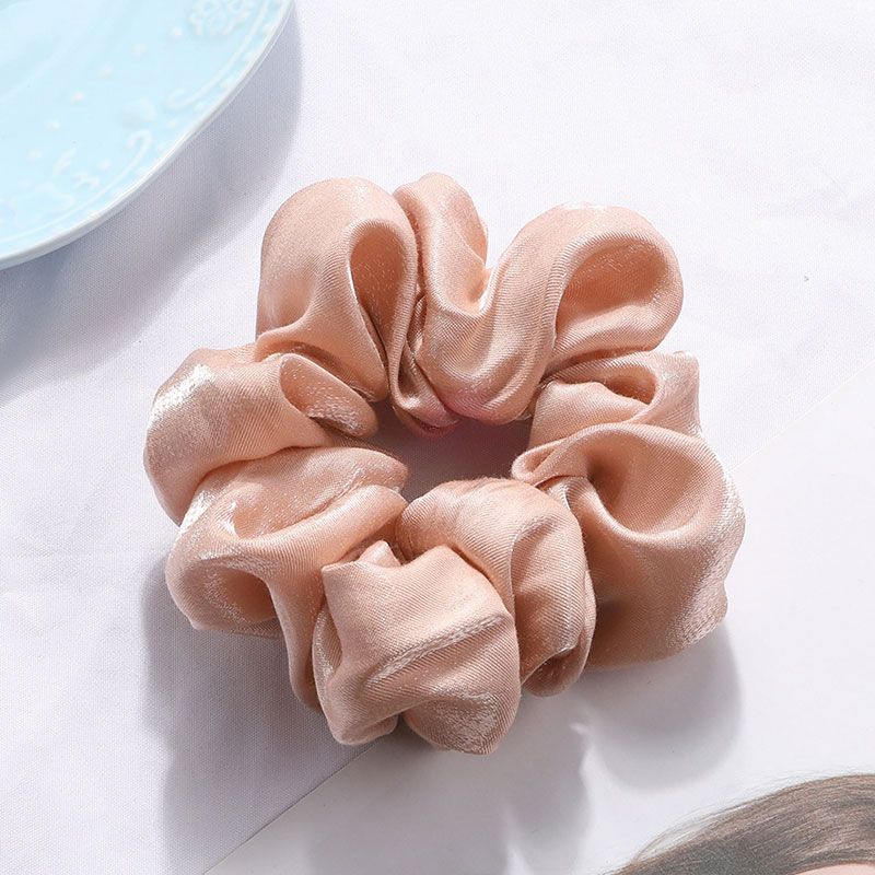 Women Silky Satin Hair Scrunchies Elastic Hair Bands Ponytail Hair Tie Rope HOT