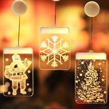 Рождественский Санта Клаус светодиодная присоска подвесные светильники