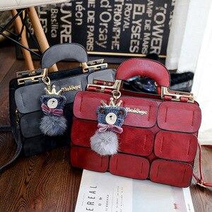 Image 3 - Moda ünlü marka kadın çanta deri postacı çantası lüks üst saplı çanta kadın Tote Crossbody çanta Bolsas Feminina