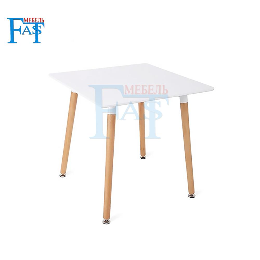 Home Dining Table White Paint Table On Beech Legs  Kitchen Table Quad Table Modern Table
