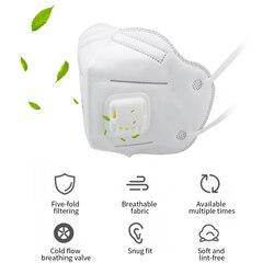 10 Uds. N95 KN95 Anti-Fog FFP2 máscara de polvo para niños adultos PM2.5 máscara caliente antifaz filtro de aire saludable protección a prueba de polvo