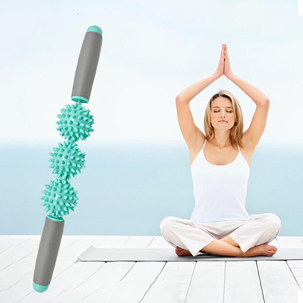 Massage Roller Stick Muscle Roller - Deep Tissue Fascia Massager Release Pain Leg Neck & Back Yoga Stick Relax Fascia Stick