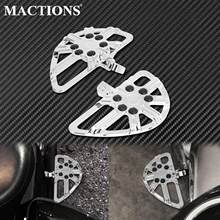2xMotorcycle CNC Rear Footrest Foot Pegs Passenger Pedal Chrome For Harley Touring FLHX Dyna Fat Bob FXDB Sportster XL883 1200
