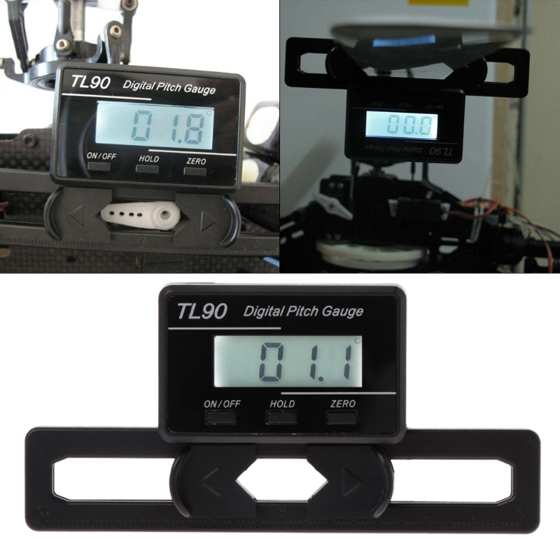 LCD Backlight Display TL90 Digital Pitch Gauge Blades Angle Measurement Tools