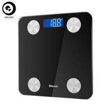 DIGOO بلوتوث موازين الذكية ميزان إلكتروني مقياس الدهون في الجسم شاشة الكريستال السائل شاشة الطابق الجسم الوزن ميزان حمام DG BF8028