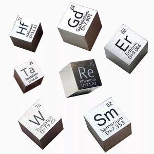 Элемент Cube 10 мм коллекции металла чистой плотности, тантал, гафний, вольфрам, рениум, гадолиум, Эрбий, Барий