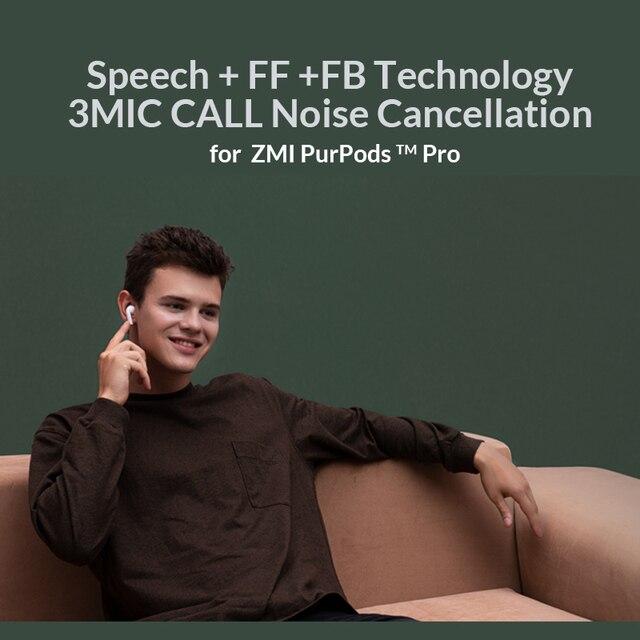 Xiaomi ZMI PurPods Pro Earphone Bluetooth 5.2 ANC 3Mic Anti Noise 2
