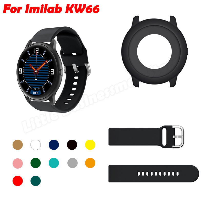 Protective Case Sports Silicone Band For Imilab KW66 ,Watch Cover Protector, Strap Quick Release Wrist Bracelet Replacement