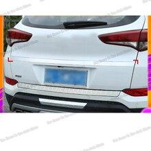 Lsrtw2017 Stainless Steel Car Trunk Strip Tailgate Rear Door Trims for Hyundai Tucson 2015 2016 2017 2018 2019 2020 Accessories lsrtw2017 abs car rearview rain shield strip trims for hyundai tucson 2015 2016 2017 2018 2019 2020