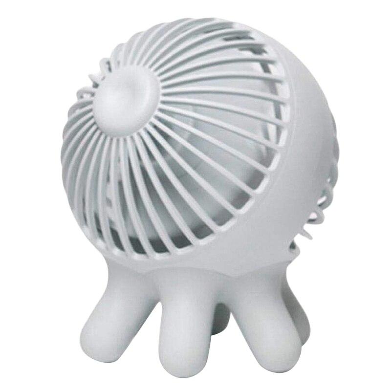Ev Aletleri'ten Fanlar'de Usb Fan  kişisel taşınabilir el fanı ile işletilen pil Usb şarj edilebilir  ahtapot şekli elektrikli Fan ofis odası için açık title=