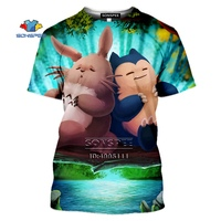 SONSPEE Cartoon Pokemon Snorlax T-shirt 3D Print Men Women Tshirt Casual Summer Short Sleeve Fashion Oversized Shirts Streetwear 4