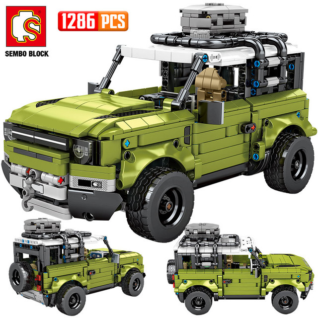 SEMBO 1286PCS City Pull Back Technic Racing Car Building Blocks Creator Off-road SUV Vehicles Mechanical Bricks Toys For Boys