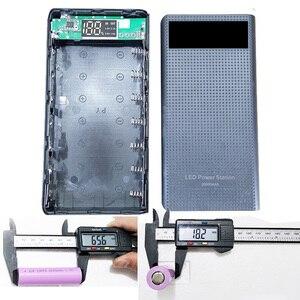 Image 4 - 7x18650 סוללה מחזיק DIY כוח בנק קופסא פלסטיק פגז מקרה סוג C USB יציאת תצוגת Powerbank תיבת אביזרים שחור לבן כחול