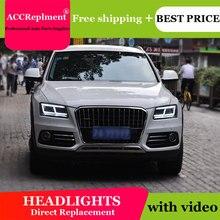 עבור אאודי Q5 2009 2018 פנסים כל LED פנס DRL דינמי אות Hid ראש מנורת Bi קסנון קרן אבזרים רכב סטיילינג