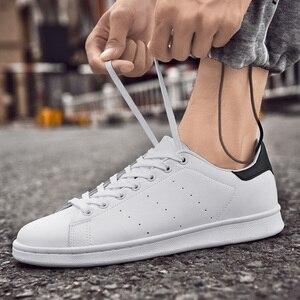 Image 4 - Zapatos Smith de Four seasons para hombre, zapatillas clásicas antideslizantes, resistentes al desgaste, informales, color blanco