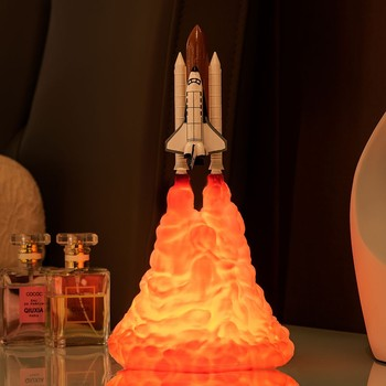3D printing rocket light lunar light space shuttle light smart home night light new exotic table lamp Environmental protection