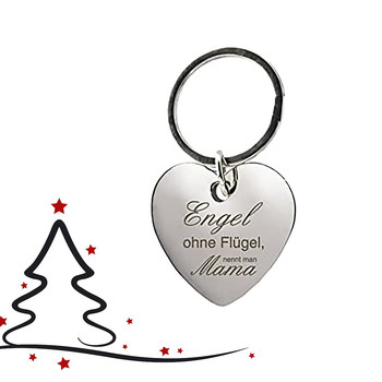 Fashion Keychains Alloy There Are Angels Without Engraved On The key Ring. They Call Your Mom A Gift breloki llaveros image