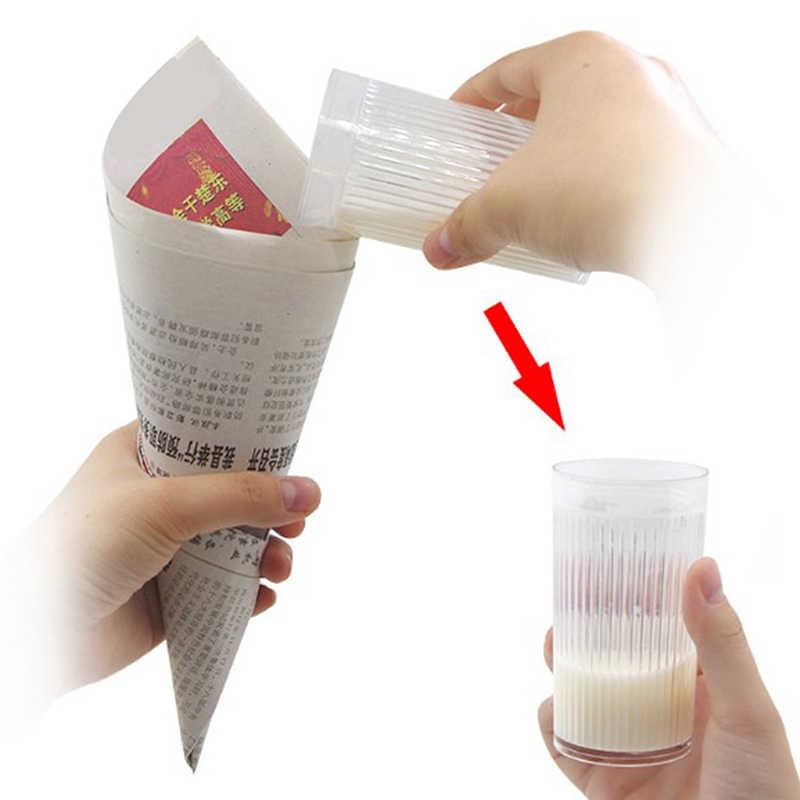 كوب حليب الخدع السحرية الحليب تختفي المرحلة الدعائم السحرية عن قرب بار الشارع الوهم اكسسوارات للتحايل مضحك أداة سحرية