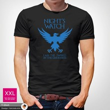 Nights Watch Game Of Thrones TShirt Jon John Snow Sword in the darkness White Cool Casual pride t shirt men Unisex New(China)