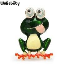 Wuli & baby-broches pour femmes en émail, épingle mignonne pour femme, fête animale unisexe, décontracté, cadeaux
