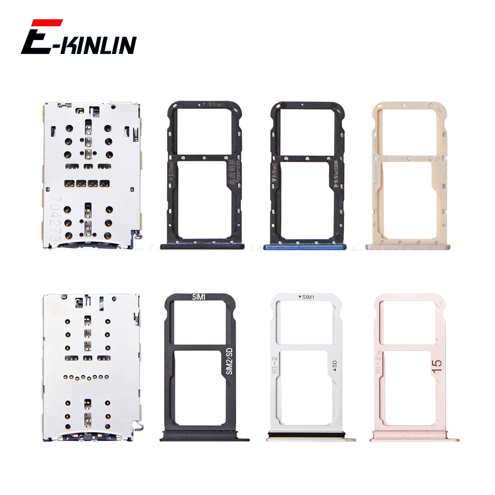 Sim Micro SD Card Socket Holder Slot Tray Reader For HuaWei Mate 10 Pro Lite Adapter Container Connector Replacement Parts