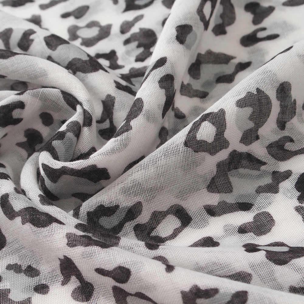110*110 centimetri nero del leopardo bianco della stampa di cotone sciarpa quadrata con nappa delle donne di modo luce morbida sciarpe di seta della signora dello scialle del hijab