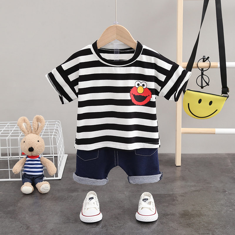 Summer Baby Clothes Suit Children Fashion Boy Girls Strips T Shirt Shorts 2Pcs/sets Toddler Clothing Kids Tracksuits 0-5 Years