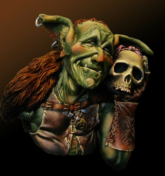 1/12  Ancient Goblin In Love Bust   Resin Figure Model Kits Miniature Gk Unassembly Unpainted